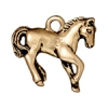 Charm Horse Antique Gold